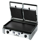 Eurodib PDF3000 Double Panini Grill with Smooth Plates - 20 inch x 10 inch Cooking Surface - 220V, 3000W