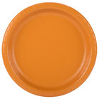 Creative Converting 323393 10 inch Pumpkin Spice Orange Round Paper Plate - 240/Case