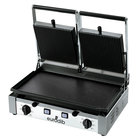 Eurodib PDL3000 Double Panini Grill with Grooved Top and Smooth Bottom - 20 inch x 10 inch Cooking Surface- 220V, 3000W