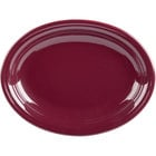 Homer Laughlin 457341 Fiesta Claret 11 5/8 inch x 8 7/8 inch Medium Oval Platter   - 12/Case