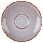 Homer Laughlin 221541437 Brownfield 6 1/2 inch Cobblestone Saucer - 36/Case