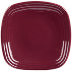 Homer Laughlin 920341 Fiesta Claret 9 1/4 inch Square Luncheon Plate - 12/Case