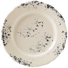 Homer Laughlin 54841300 Cottage Bleu 10 5/8 inch Scalloped Edge Round Plate - 12/Case
