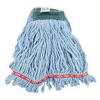 Rubbermaid FGA25206BL00 Blue Medium Web Foot Shrinkless Blend Mop Head with 5 inch Headband