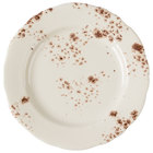 Homer Laughlin 54141301 Cottage Brun 6 1/4 inch Scalloped Edge Round Plate - 36/Case