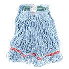 Rubbermaid FGA11206BL00 Blue Medium Web Foot Blend Mop Head with 1 inch Headband