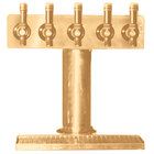 Eagle Group BT5B-DT Spec-Bar Brass Air Cooled 5 Tap Tower with Drip Tray - 3 inch Column