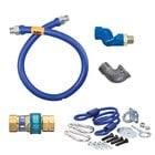 48 inch Dormont 16125BPQSR SwivelMAX Gas Connector Kit with Coiled Restraining Device - 1 1/4 inch Diameter
