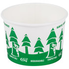 EcoChoice 8 oz. Compostable Paper Soup / Hot Food Cup with Tree Design   - 25/Pack