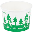 EcoChoice 16 oz. Compostable and Biodegradable Paper Soup / Hot Food Cup with Tree Design - 25/Pack