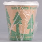 Lavex Lodging 10 oz. Kraft Compostable Individually Wrapped Paper Hot Cup   - 480/Case