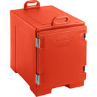 Red Front Loading Insulated Food Pan Carrier - Holds 5 Pans