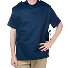 Choice 29 inch x 20 inch Navy Poly-Cotton Cobbler Apron with Two Pockets