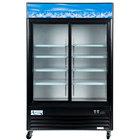Avantco GDS47-HC 53 inch Black Sliding Glass Door Merchandiser Refrigerator with LED Lighting