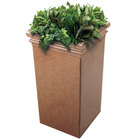 Commercial Zone 724121 StoneTec 19 inch x 19 inch x 33 inch Sedona Tall Planter