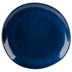 GET CS-10-CSB Cosmo 10 1/2 inch Blue Melamine Irregular Round Coupe Plate   - 12/Case
