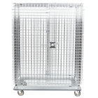 Metro SEC55LC Chrome Mobile Heavy Duty Wire Security Cabinet - 50 1/2