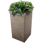 Commercial Zone 724120 StoneTec 19 inch x 19 inch x 33 inch Riverstone Tall Planter