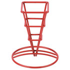Clipper Mill by GET 4-91644 2 1/2 inch x 5 1/4 inch Red Square Fry Cone Basket