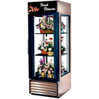 True G4SM-23FC-LD Bronze Four Sided Glass Door Floral Case with Front Sign