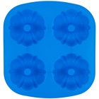 Wilton 2105-4827 Easy-Flex Silicone 4-Compartment Mini Fluted Tube / Bundt Pan