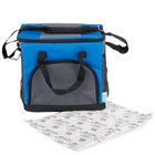Choice Insulated Leak Proof Cooler Bag / Soft Cooler, Blue 12 inch x 9 inch x 11 1/2 inch 24 Can, with Microcore Thermal Hot or Cold Pack Kit