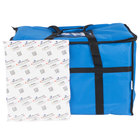 Choice Insulated Food Delivery Bag / Pan Carrier with Microcore Thermal Hot or Cold Pack Kit, Blue Nylon, 23