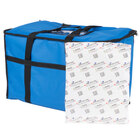 Choice Insulated Food Delivery Bag / Pan Carrier with Microcore Thermal Hot or Cold Pack Kit, Blue Nylon, 23 inch x 13 inch x 15 inch