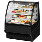 True TDM-R-36-GE/GE 36 inch Black Curved Glass Refrigerated Bakery Display Case