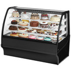 True TDM-R-59-GE/GE 59 inch Black Curved Glass Refrigerated Bakery Display Case