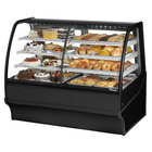 True TDM-DZ-59-GE/GE 59 inch Black Curved Glass Dual Dry / Refrigerated Bakery Display Case