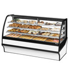 True TDM-DC-77-GE/GE 77 inch White Curved Glass Dry Bakery Display Case