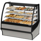 True TDM-DC-48-GE/GE 48 inch Stainless Steel Curved Glass Dry Bakery Display Case with Stainless Steel Interior