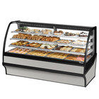 True TDM-DC-77-GE/GE 77 inch Stainless Steel Curved Glass Dry Bakery Display Case with Stainless Steel Interior