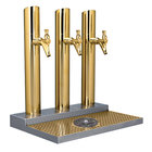Micro Matic BS-SKY-3PVDKR Skyline Brass Kool-Rite Glycol Cooled 3 Tower, 3 Tap Station with Glass Rinser
