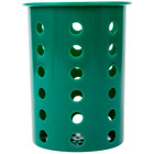 Steril-Sil RP-25-HUNTER Hunter Green Perforated Plastic Flatware Cylinder