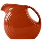 Homer Laughlin 484334 Fiesta Paprika 2.1 Qt. Large Disc Pitcher - 2 / Case