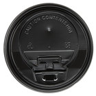 Choice 8, 10, 12, 16, and 20 oz. Black Hot Paper Cup Travel Lid with Hinged Tab   - 100/Pack