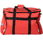 ServIt Heavy-Duty Insulated Red Nylon Soft-Sided Food Delivery Bag / Pan Carrier