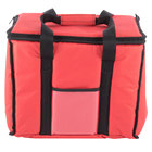 Choice Insulated Delivery Bag, Soft-Sided Sandwich / Take-Out Hot / Cold Delivery Bag, Red Nylon, 15