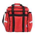 ServIt Heavy-Duty Insulated Red Nylon Soft-Sided Food Delivery Bag