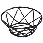 Clipper Mill by GET 4-31433 8 inch Round Black Iron Powder Coated Braided Basket