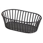 Clipper Mill by GET 4-31892 8 1/2 inch x 5 1/2 inch Black Iron Powder Coated Short Oval Tuscan Basket