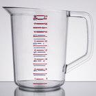 Rubbermaid FG321600CLR Bouncer 2 Quart Polycarbonate Plastic Measuring Cup