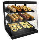 Structural Concepts CGS3830 Impulse Black 38 inch Countertop Bakery Display Case with Swinging Rear Doors