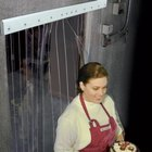 Curtron CZN-6-PR-4086 Curtronizer 40 inch x 86 inch Polar Reinforced Freezer / Refrigerator Strip Door - NSF Listed