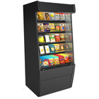 Structural Concepts CO67 Oasis Black 71 1/4 inch Non-Refrigerated Self-Service Display Case / Merchandiser - 110-120V