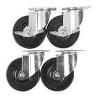 Cooking Performance Group 4 3/4 inch Plate Casters - 4/Set