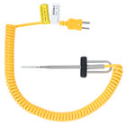 "Cooper-Atkins 50209-K MicroNeedle Rounded Tip Temperature Probe with 48"" Yellow Cable"