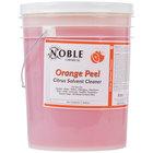 Noble Chemical 5 Gallon Orange Peel Citrus Solvent Cleaner - Ecolab® 14559 Alternative